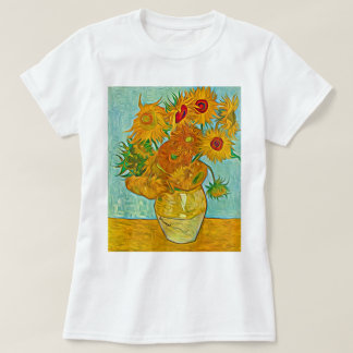 Vincent Van Gogh Sunflowers Vase T-Shirt