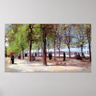 Vincent Van Gogh - Terrace in Luxembourg Garden Poster