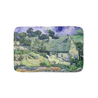 Vincent van Gogh   Thatched cottages at Cordeville Bath Mat