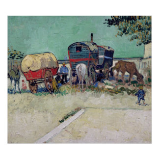 Vincent van Gogh | The Caravans, Gypsy Encampment Poster