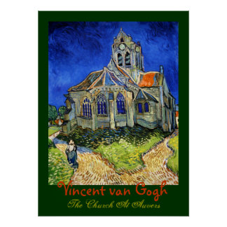 Vincent van Gogh: the Church At Auvers Poster