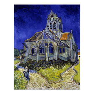 Vincent Van Gogh The Church in Auvers Poster