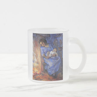 Vincent Van Gogh - The Man Is At Sea Fine Art Frosted Glass Coffee Mug