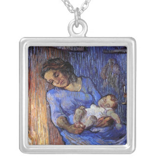 Vincent Van Gogh - The Man Is At Sea Fine Art Silver Plated Necklace