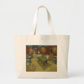 Vincent Van Gogh The Night Cafe Painting Art Work Large Tote Bag