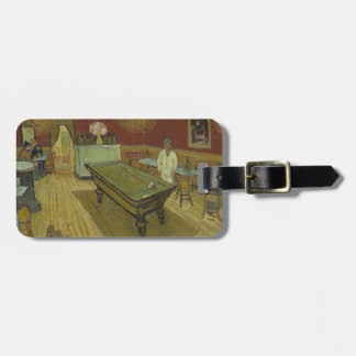 Vincent Van Gogh The Night Cafe Painting Art Work Luggage Tag