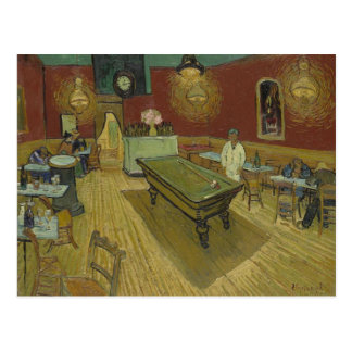 Vincent Van Gogh The Night Cafe Painting Art Work Postcard