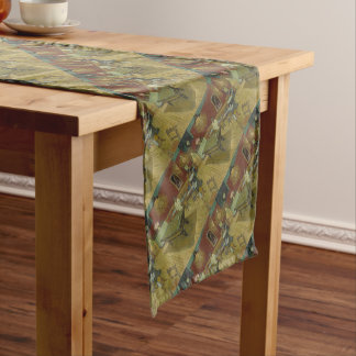 Vincent Van Gogh The Night Cafe Painting Art Work Short Table Runner