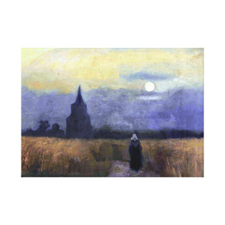 Vincent van Gogh The Old Tower at Dusk Canvas Print