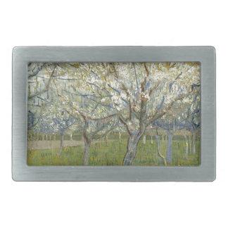 Vincent Van Gogh The Pink Orchard -Floral Painting Belt Buckles