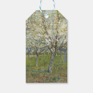 Vincent Van Gogh The Pink Orchard -Floral Painting Pack Of Gift Tags
