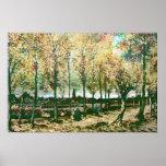 Vincent Van Gogh - The poplars in Nuenen Print
