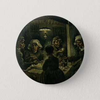 Vincent Van Gogh The Potato Eaters Painting. Art 2 Inch Round Button