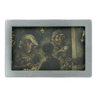 Vincent Van Gogh The Potato Eaters Painting. Art Belt Buckle