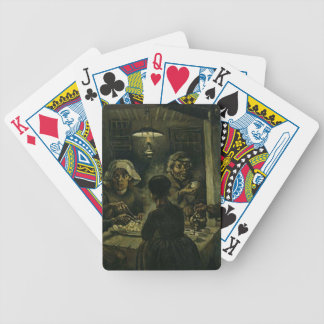 Vincent Van Gogh The Potato Eaters Painting. Art Bicycle Playing Cards