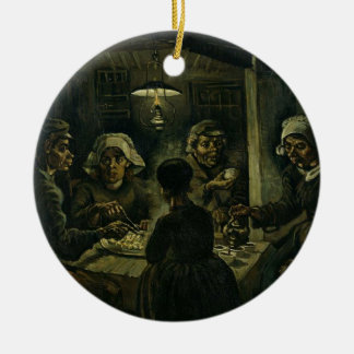 Vincent Van Gogh The Potato Eaters Painting. Art Ceramic Ornament