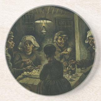 Vincent Van Gogh The Potato Eaters Painting. Art Coaster