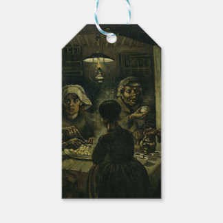 Vincent Van Gogh The Potato Eaters Painting. Art Gift Tags