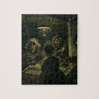 Vincent Van Gogh The Potato Eaters Painting. Art Jigsaw Puzzle