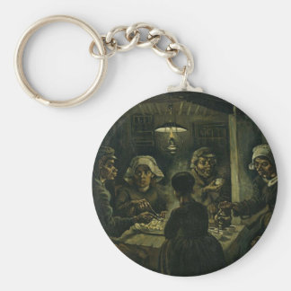 Vincent Van Gogh The Potato Eaters Painting. Art Keychain