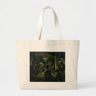 Vincent Van Gogh The Potato Eaters Painting. Art Large Tote Bag