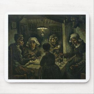 Vincent Van Gogh The Potato Eaters Painting. Art Mouse Pad