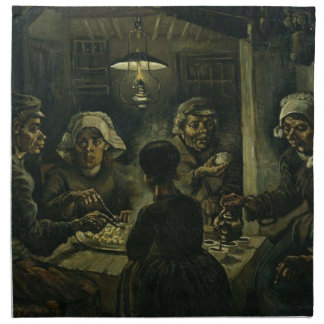 Vincent Van Gogh The Potato Eaters Painting. Art Napkin