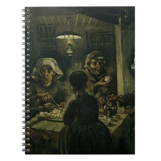 Vincent Van Gogh The Potato Eaters Painting. Art Notebook