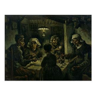 Vincent Van Gogh The Potato Eaters Painting. Art Postcard
