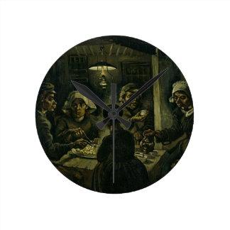 Vincent Van Gogh The Potato Eaters Painting. Art Round Clock