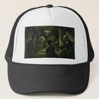 Vincent Van Gogh The Potato Eaters Painting. Art Trucker Hat