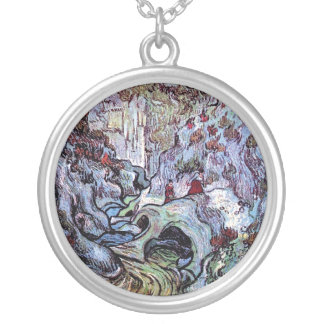 Vincent Van Gogh - The Ravine (Les Peiroulets) Silver Plated Necklace