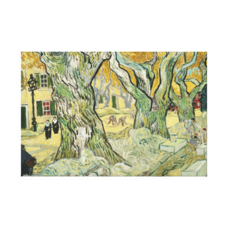 Vincent van Gogh - The Road Menders Canvas Print