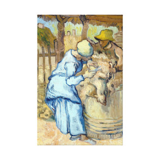Vincent van Gogh The Sheep-Shearer Canvas Print