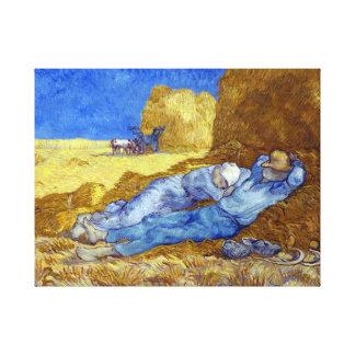 Vincent van Gogh The Siesta (after Millet) Canvas Print