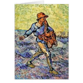 Vincent Van Gogh - The Sower - Fine Art Painting Greeting Card