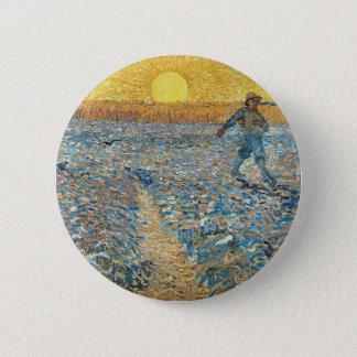 Vincent Van Gogh The Sower Painting Art 2 Inch Round Button