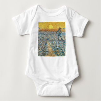 Vincent Van Gogh The Sower Painting Art Baby Bodysuit