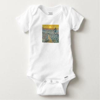 Vincent Van Gogh The Sower Painting Art Baby Onesie