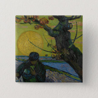 Vincent Van Gogh - 'The Sower' Painting. Art Badge 2 Inch Square Button