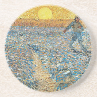 Vincent Van Gogh The Sower Painting Art Coaster