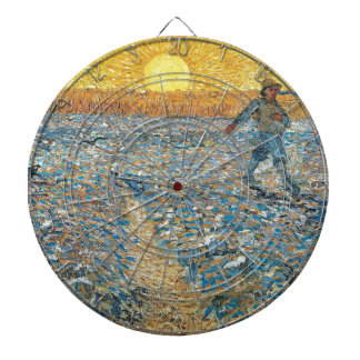 Vincent Van Gogh The Sower Painting Art Dartboard