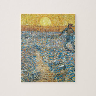 Vincent Van Gogh The Sower Painting Art Jigsaw Puzzle