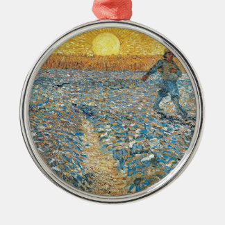 Vincent Van Gogh The Sower Painting Art Metal Ornament