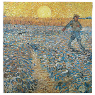 Vincent Van Gogh The Sower Painting Art Napkin
