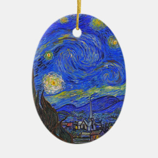 Vincent van Gogh - The Starry Night (1889) Ceramic Oval Ornament