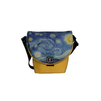 Vincent van Gogh | The Starry Night, June 1889 Messenger Bag