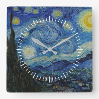 Vincent van Gogh - The Starry Night | Masterpiece Square Wall Clock