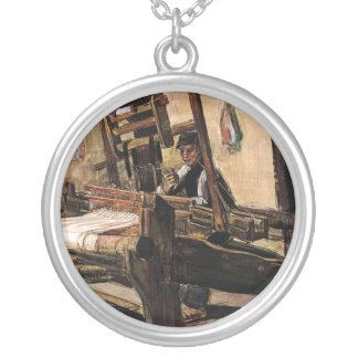 Vincent Van Gogh – The Weaver - Fine Art Silver Plated Necklace