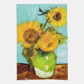 Vincent Van Gogh Three Sunflowers Kitchen Towel